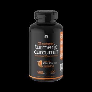 Curcumina açafrão - Turmeric Curcumin Sports Research 120s
