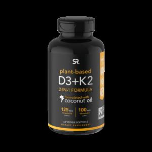 Vitamina K2 + D3 100mcg K2, 125mg D3 60s